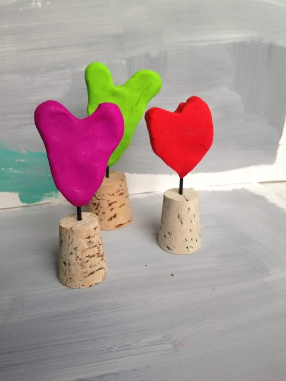 mini heart sculptures for Valentines Day