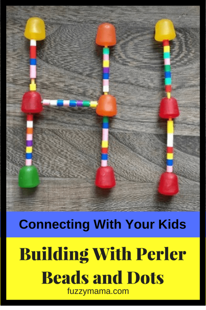 building with peeler beads and toothpicks