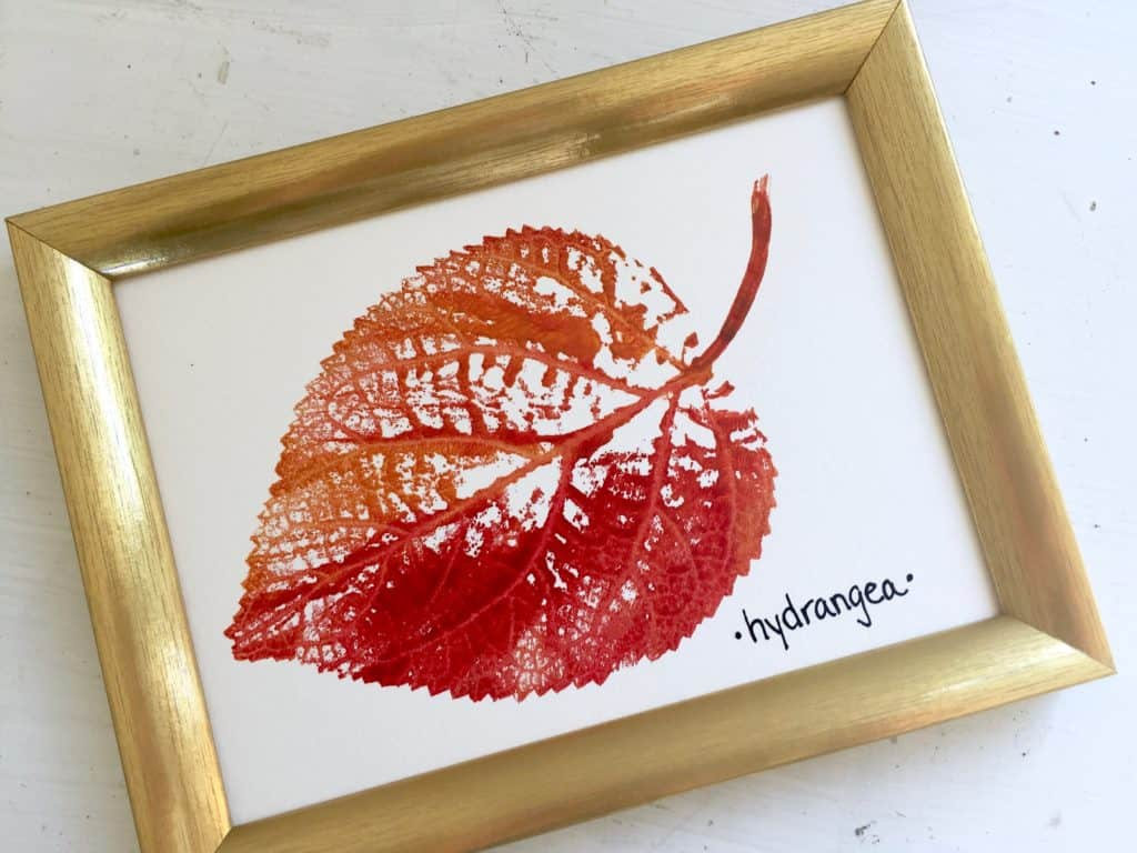 easy fall nature art printing with leaves fuzzymama