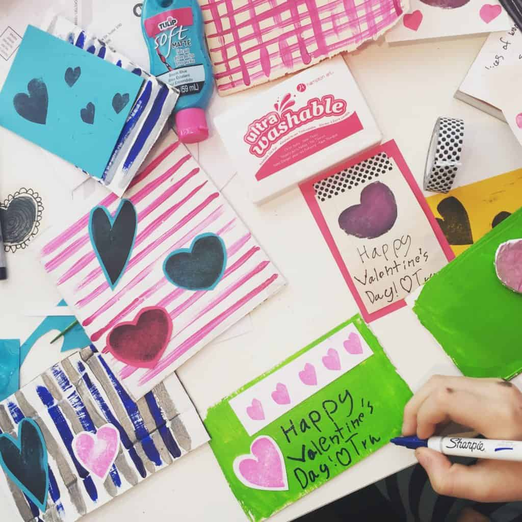diy valentine stamp