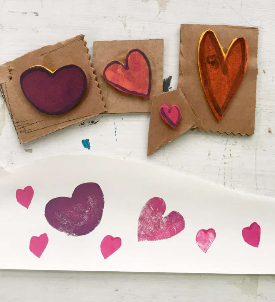 diy heart stamp