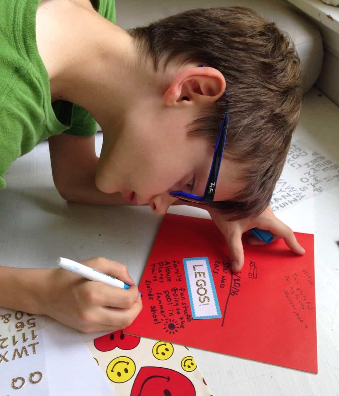 gratitude journaling with kids