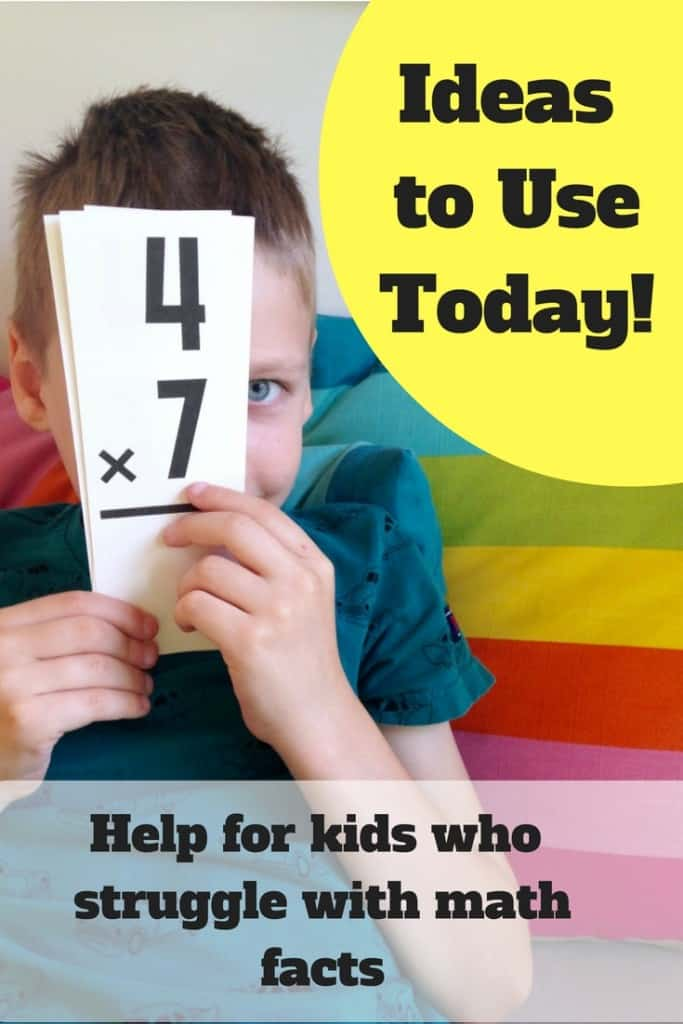 Help for kids who struggle with math facts