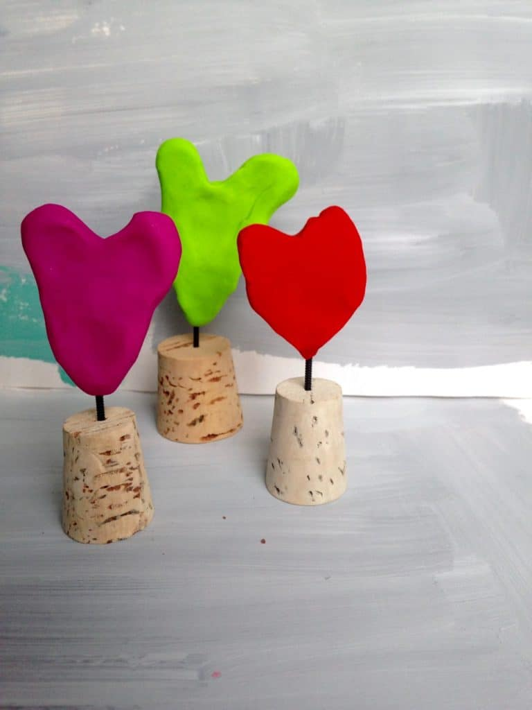 mini heart sculptures