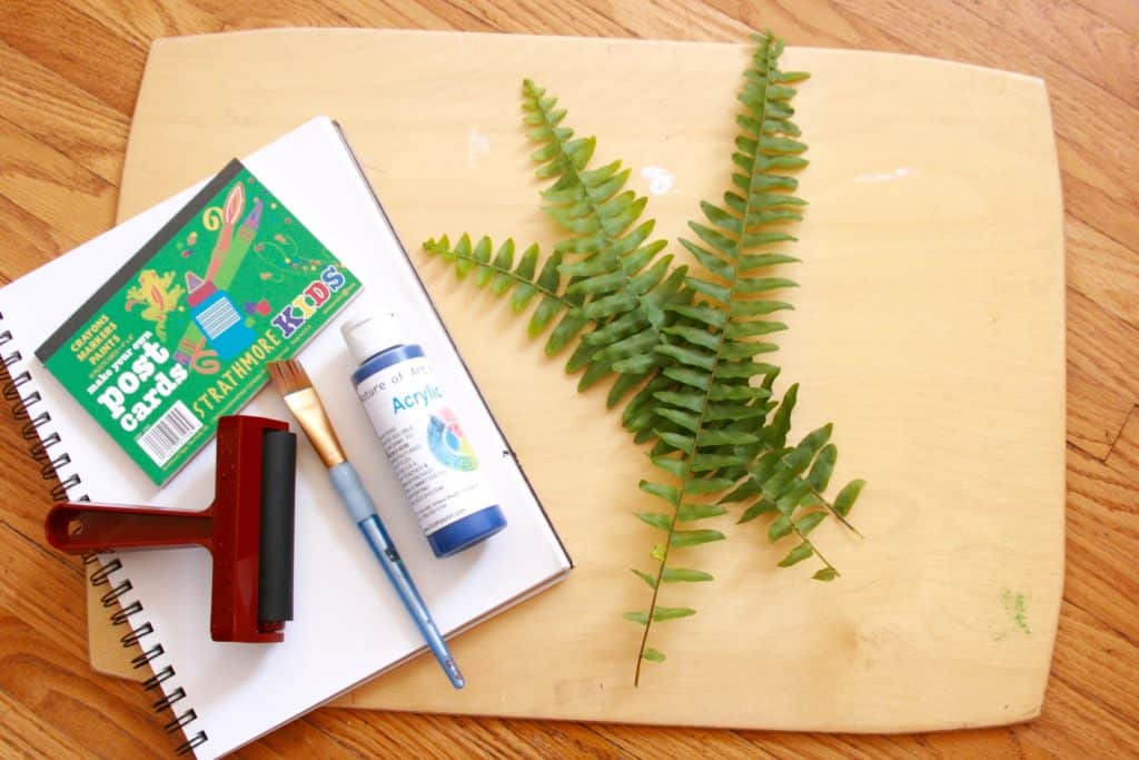 easy fall craft printing with leaves