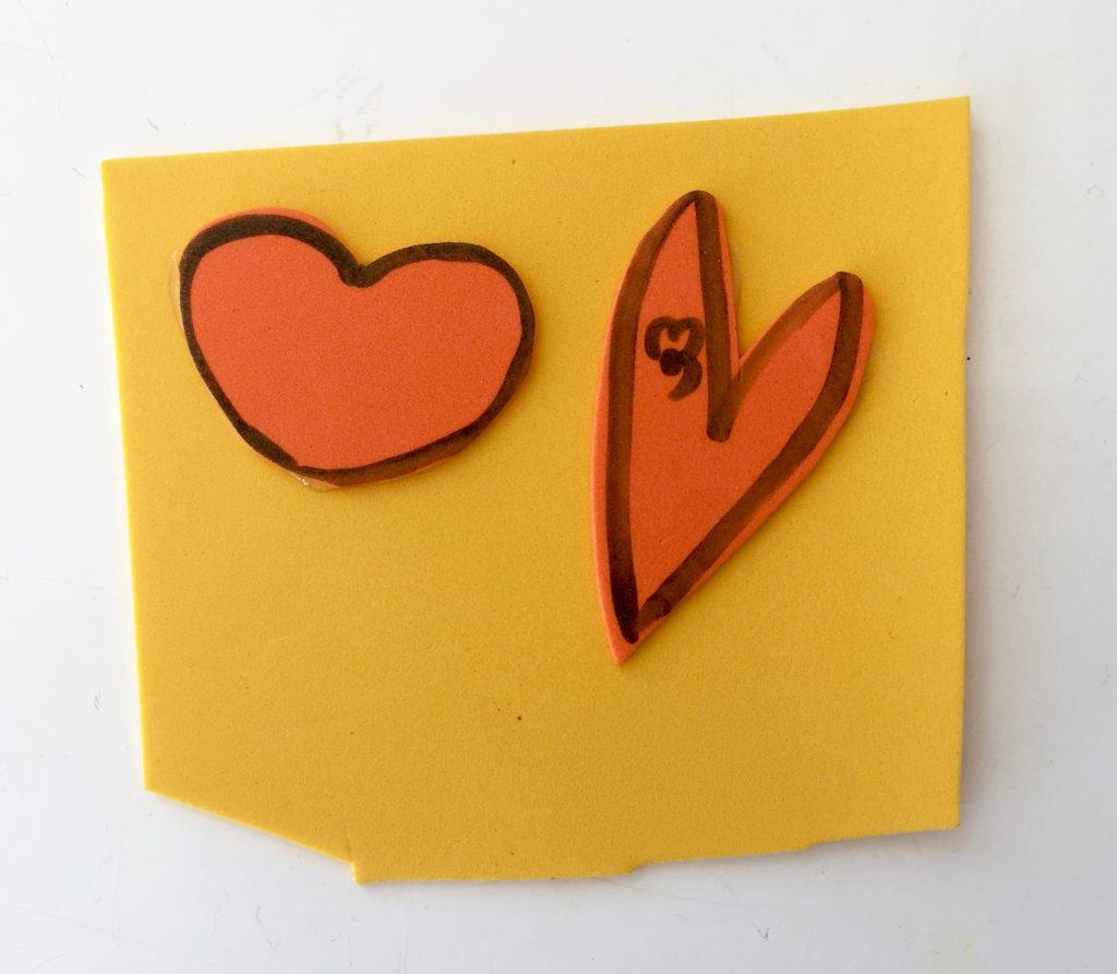 diy valentine stamp