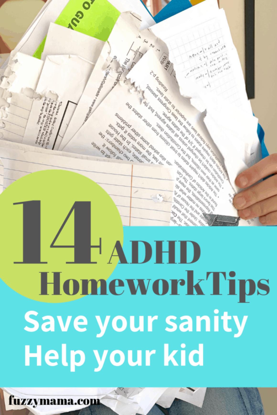 ADHD Homework Tips