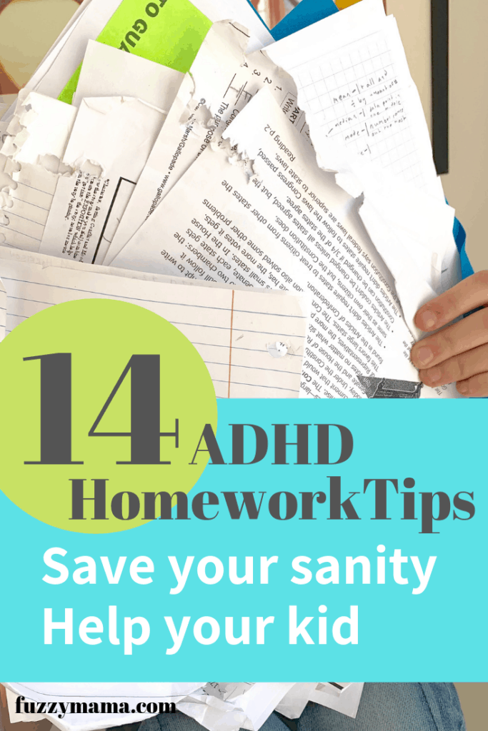 Adhd Parents Dilemma Does Your Child >> Adhd Homework Tips Fuzzymama